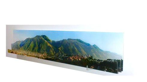 AVILA 3-D Impresion panoramica sobre acrilico