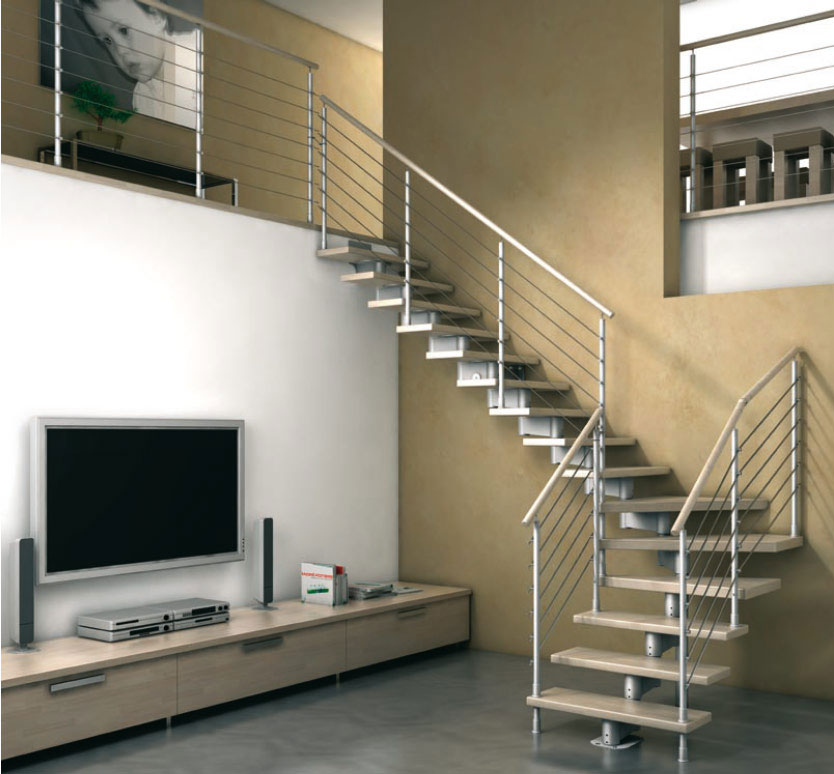 New home designs latest modern homes interior stairs for Escaleras de cemento para interiores