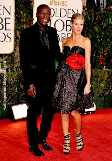 Seal and Heidi Klum arrive at the 66th Annual Golden Globe Awards