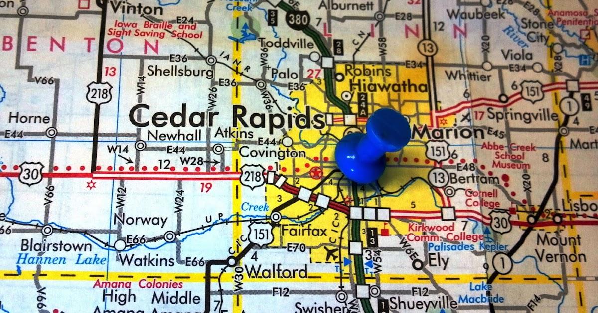 Iowa GIS Service Bureau Projects - Norway iowa map