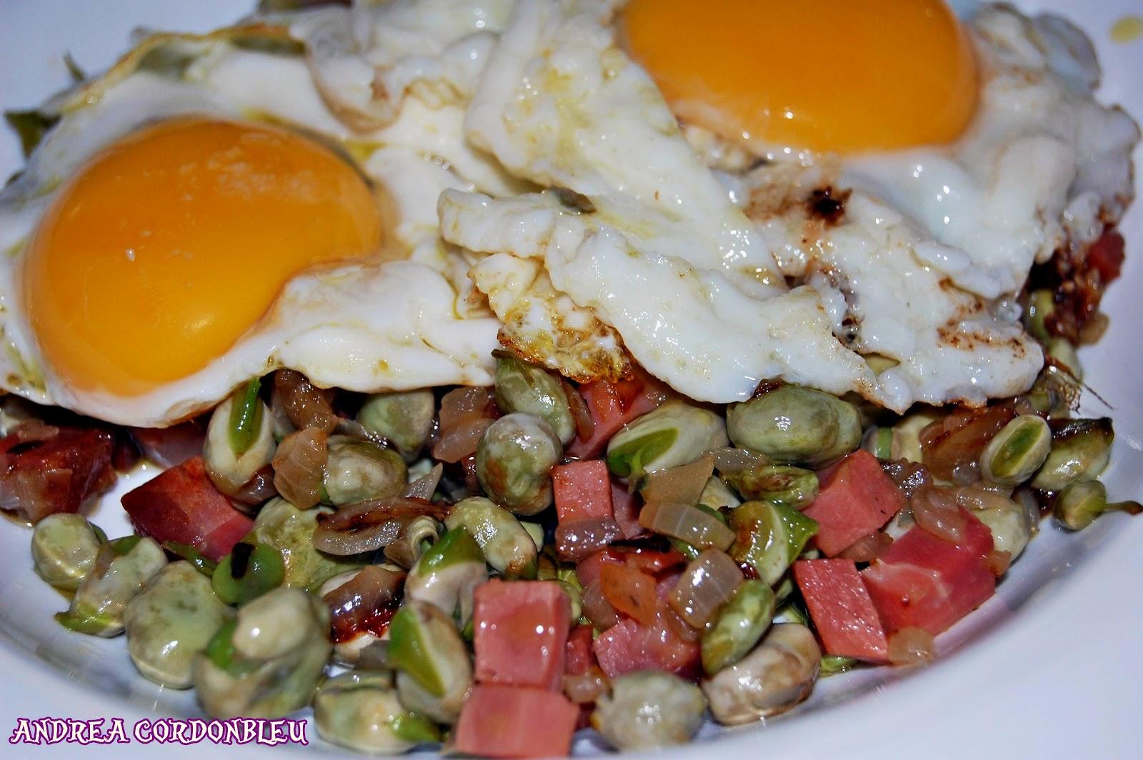 Cordonbleu habas con jam n serrano y huevo cocina - Habas tiernas con jamon ...