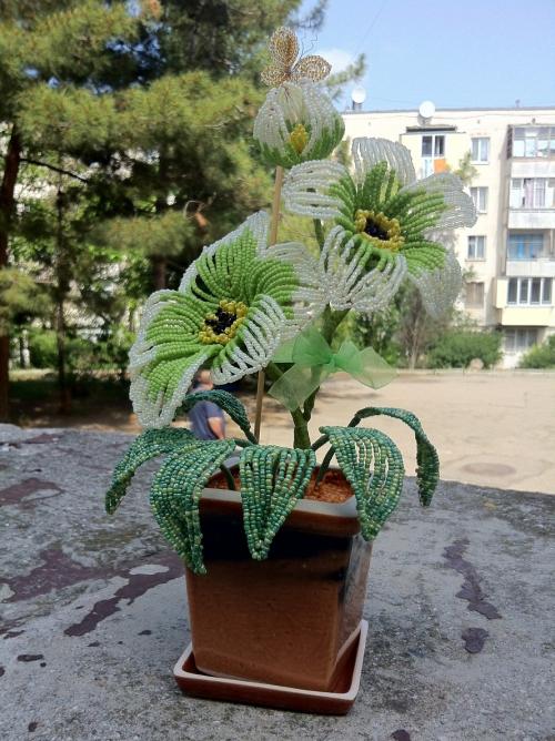 Квіти з бісеру 30 сантиметрова