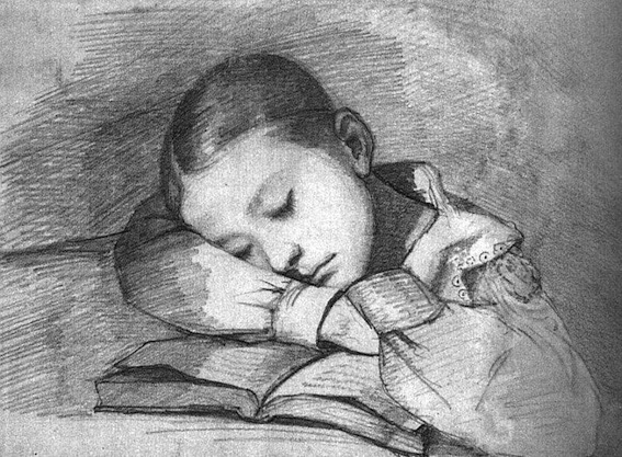 Gustave Courbet. Portrait of Juliette Courbet as a Sleeping Child, 1841