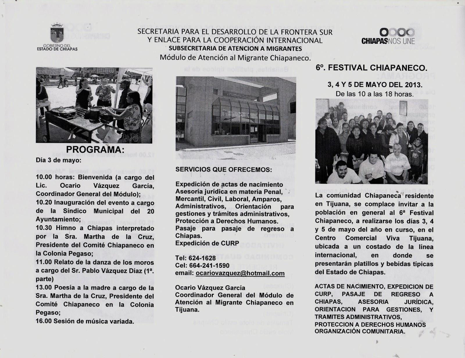 Festival CHIAPANECO en la frontera; Tijuana, California, México ...