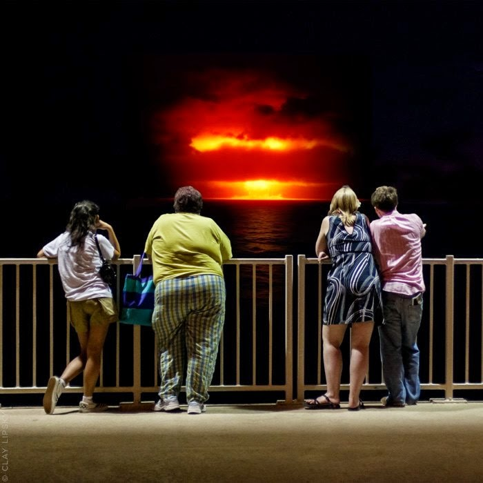 Atomic Overlook | The view of atomic explosion by Clay Lipsky