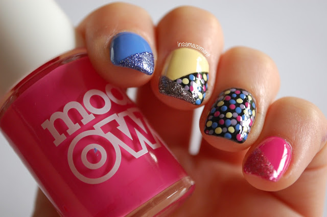 Rainbow Polka Dot Nail Art Tutorial