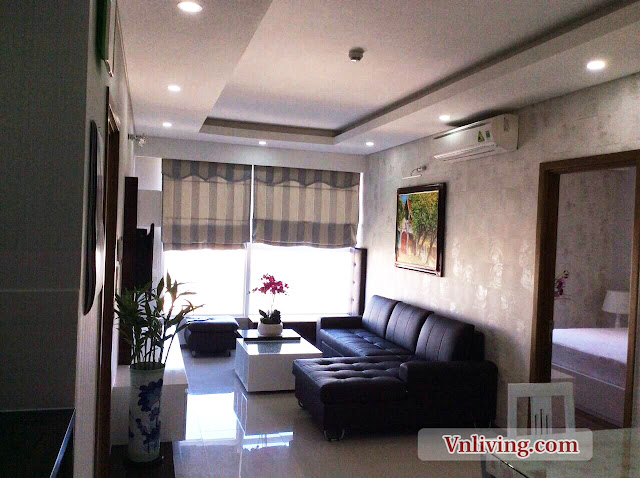 Living room in Thao Dien Pearl apartment