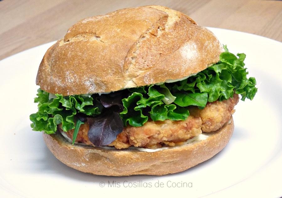 Hamburguesa de pollo estilo Mc