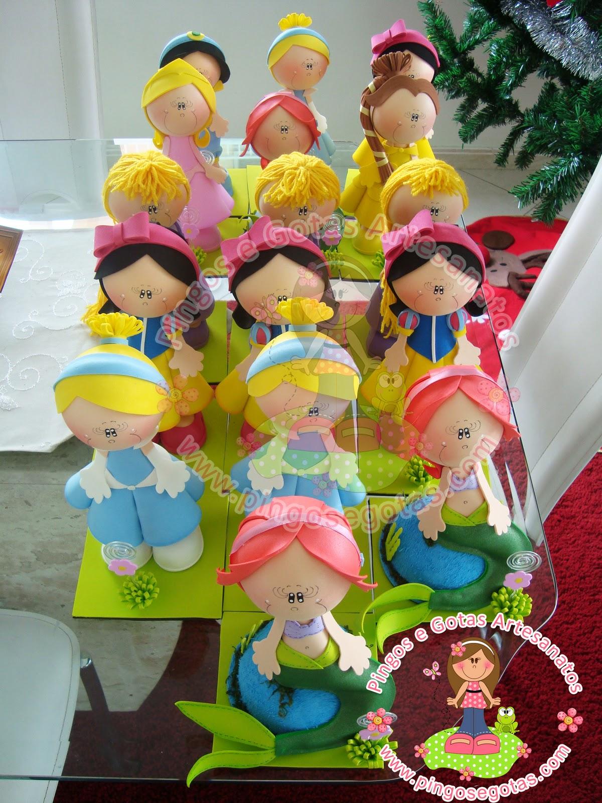 Moldes De Fofuchas Princesas