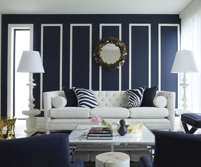 Great wall chic room navys got class pinterest