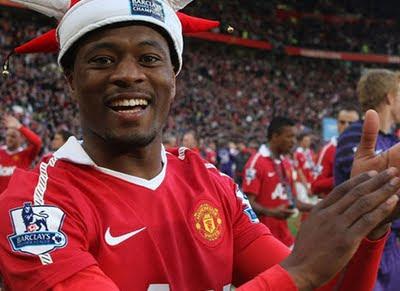 Patrice Evra Celebration Champions 19 Manchester United 2011-2012