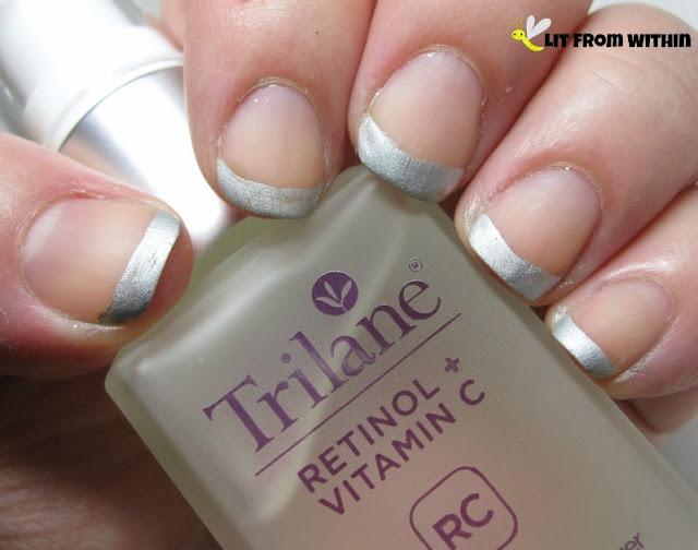 mani inspired by Trilane Retinol +Vitamin C Anti-Aging Moisturizer