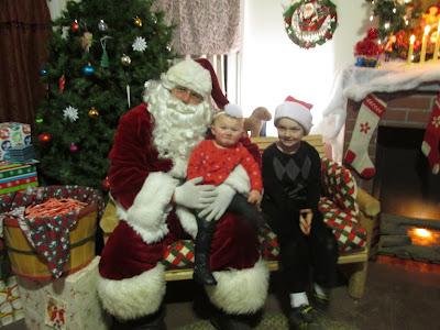 Santa with the grandkids