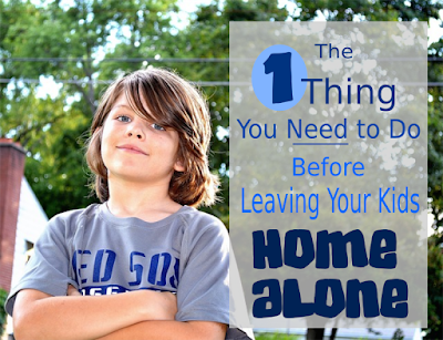 The One Thing You Need to Do Before Leaving Your Kids Home Alone -- A simple no-prep activity to make sure your kids know everything they need to know about staying home by themselves.  {posted @ Unremarkable Files}