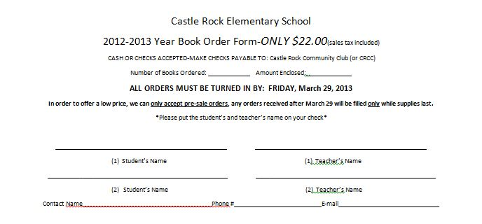 Castle Rock Community Club: February 2013