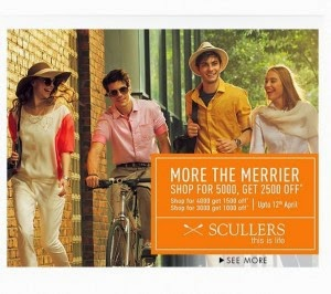 Buy Scullars Men's Clothing upto 50% off & Rs.2500 off on Rs 5000 : Buy To Earn