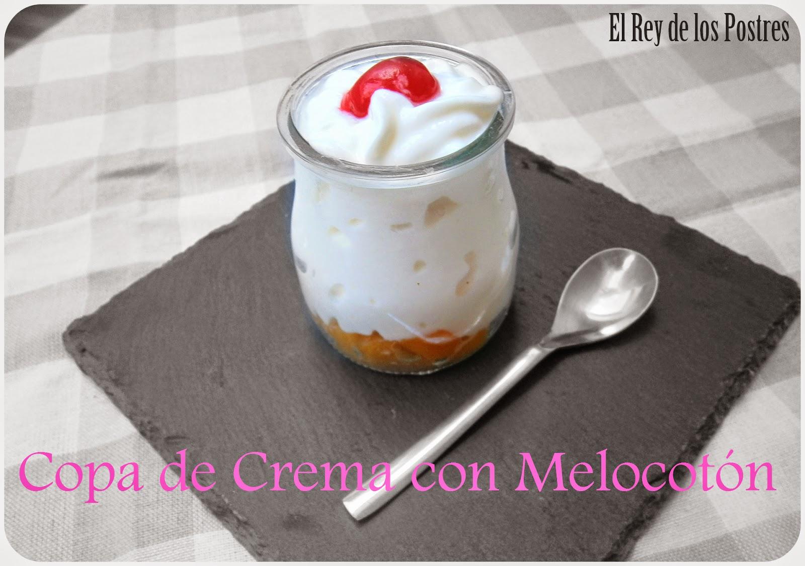 Copa de Crema con Melocotón.