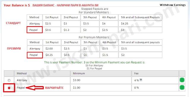 Теглене на пари от CashnHits