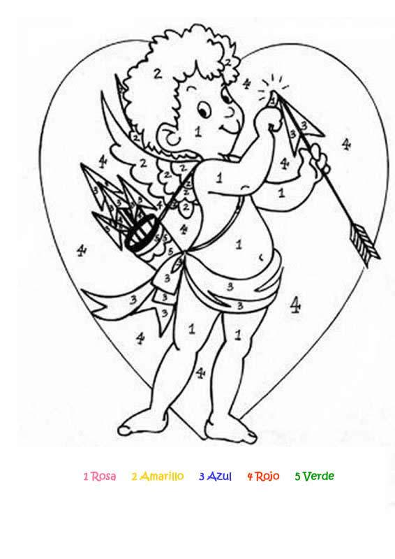 Cupido Examen para colorear - Dibujo Views