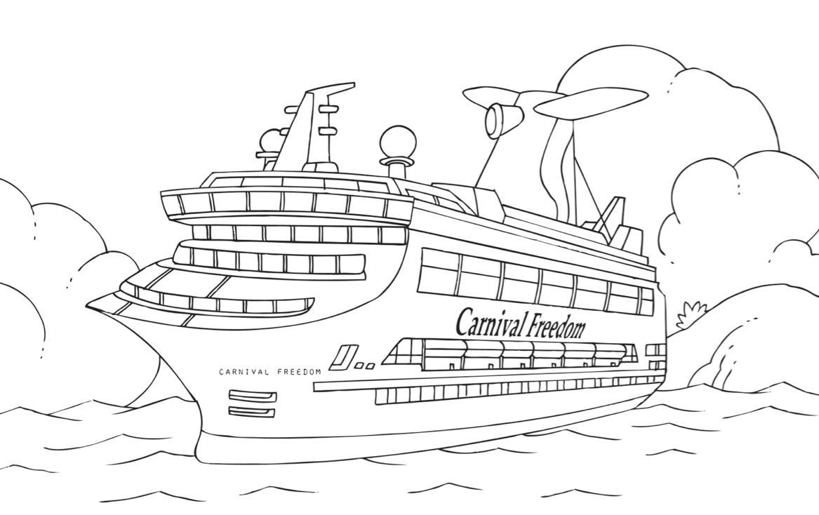 Increíble Página Para Colorear De Cruceros Composición - Enmarcado ...