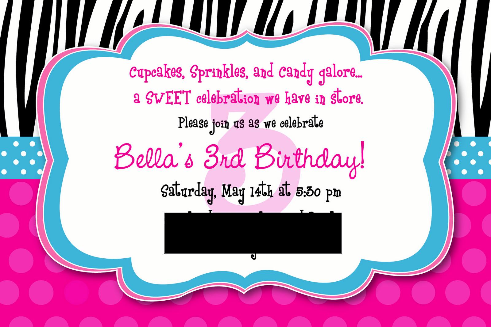 Bits of Splendor: Bella's 3rd Birthday PARTY!