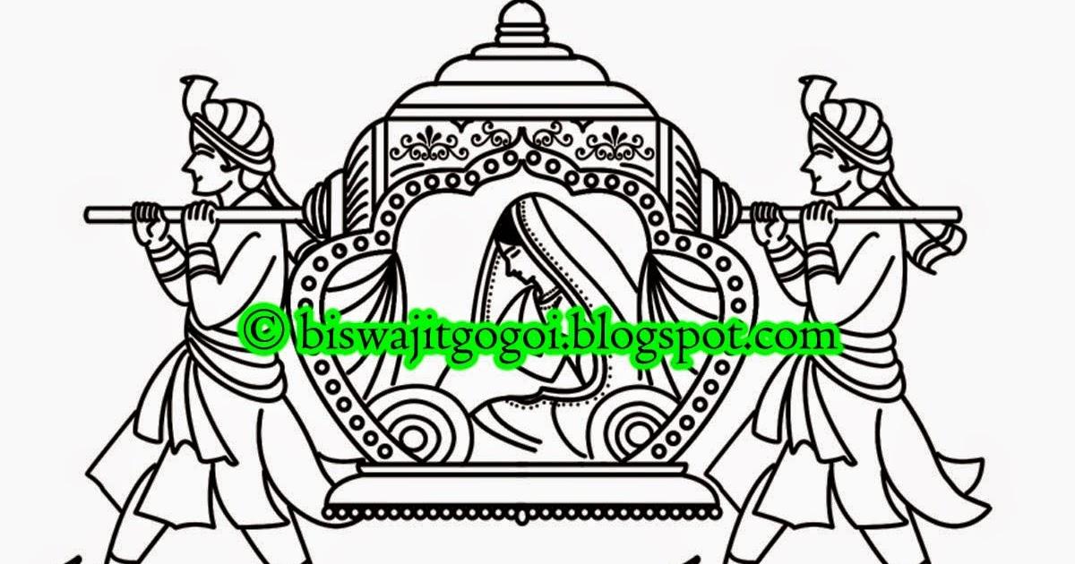 New Hindu Wedding Clipart Black And White