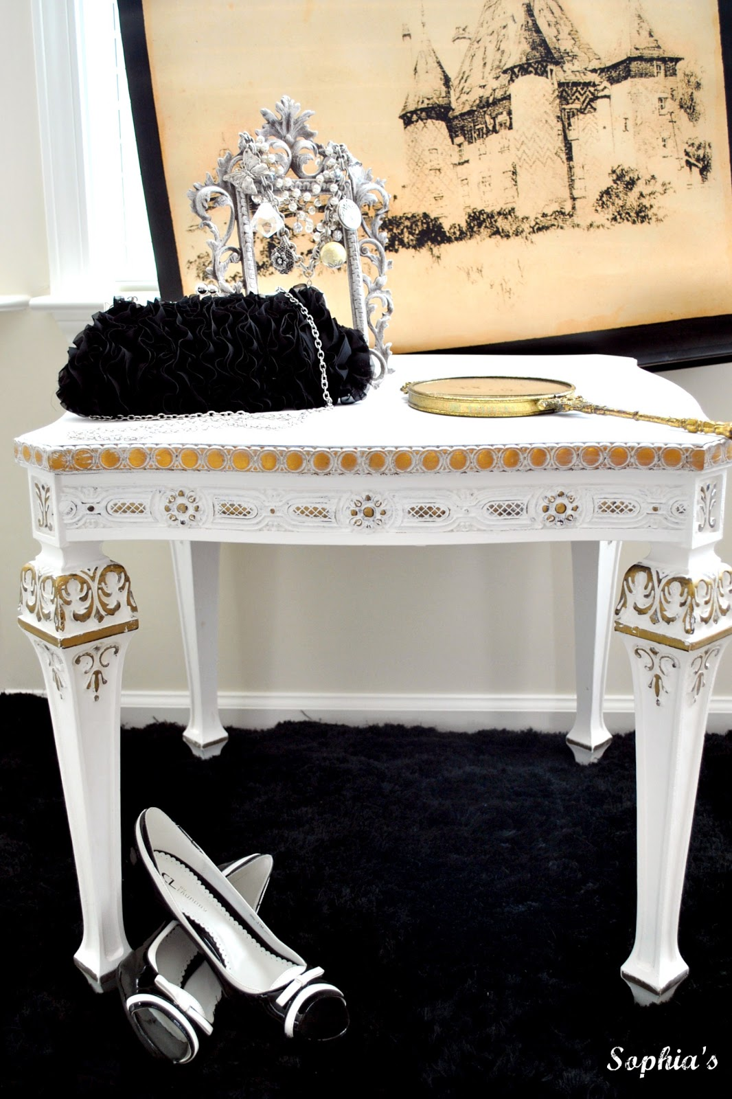 Fancy Gold Side table