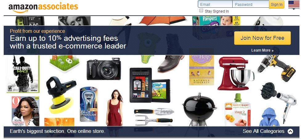 Image result for amazon associates login