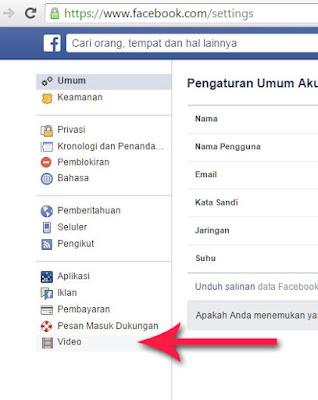 cara matikan video otomatis autoplay facebook 2