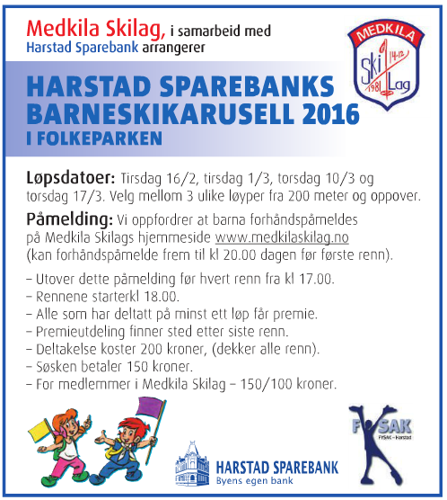 Harstad Sparebanks barneskikarusell 2016