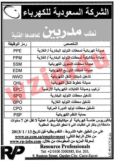 جزء 2 | وظائف جريدة الأهرام الجمعة 11 يناير 2013 -وظائف مصر الجمعة 11-1-2013