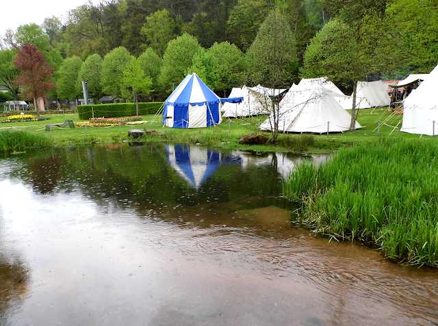 Medieval tents set up at the Gartenschau in Kaiserslautern