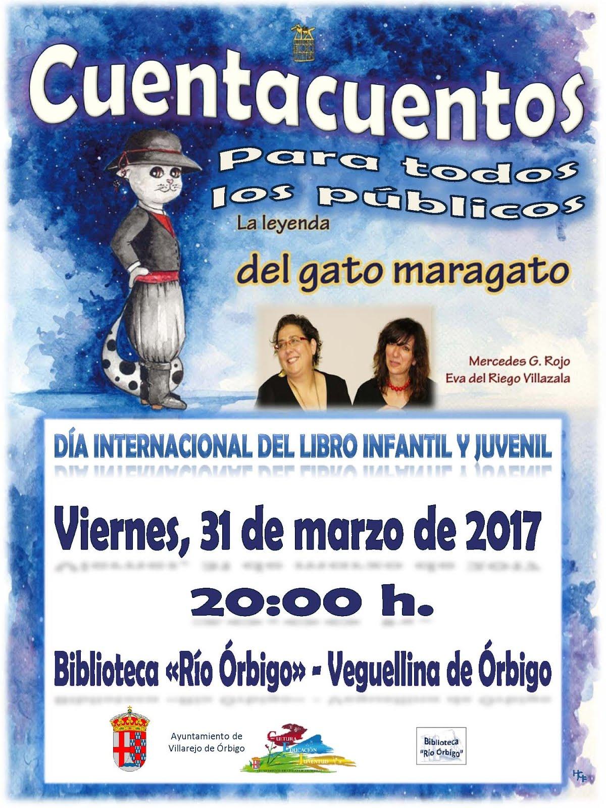 El Gato maragato celebrando el Día Internacional del LIJ en Veguellina