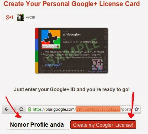ID Card Google Plus