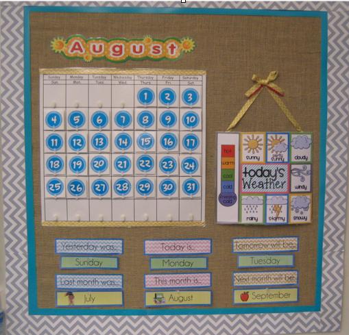 Classroom Calendar Chart : Bits of first grade freebie weather