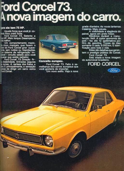 Propaganda do Ford Corcel em 1973.