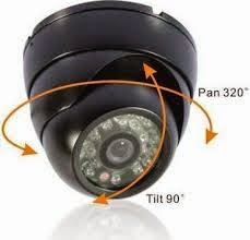 Dome Cam Rotate 90° Tilt & 320° Pan