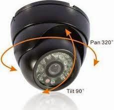 Dome Cam Rotate 90° Tilt & 320° Pan