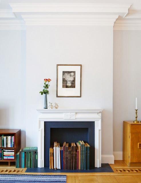 idées décoration rangement cheminée