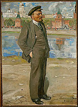 <b>This painting is a link to <i>Selected Works</i> by Lenin! </b>