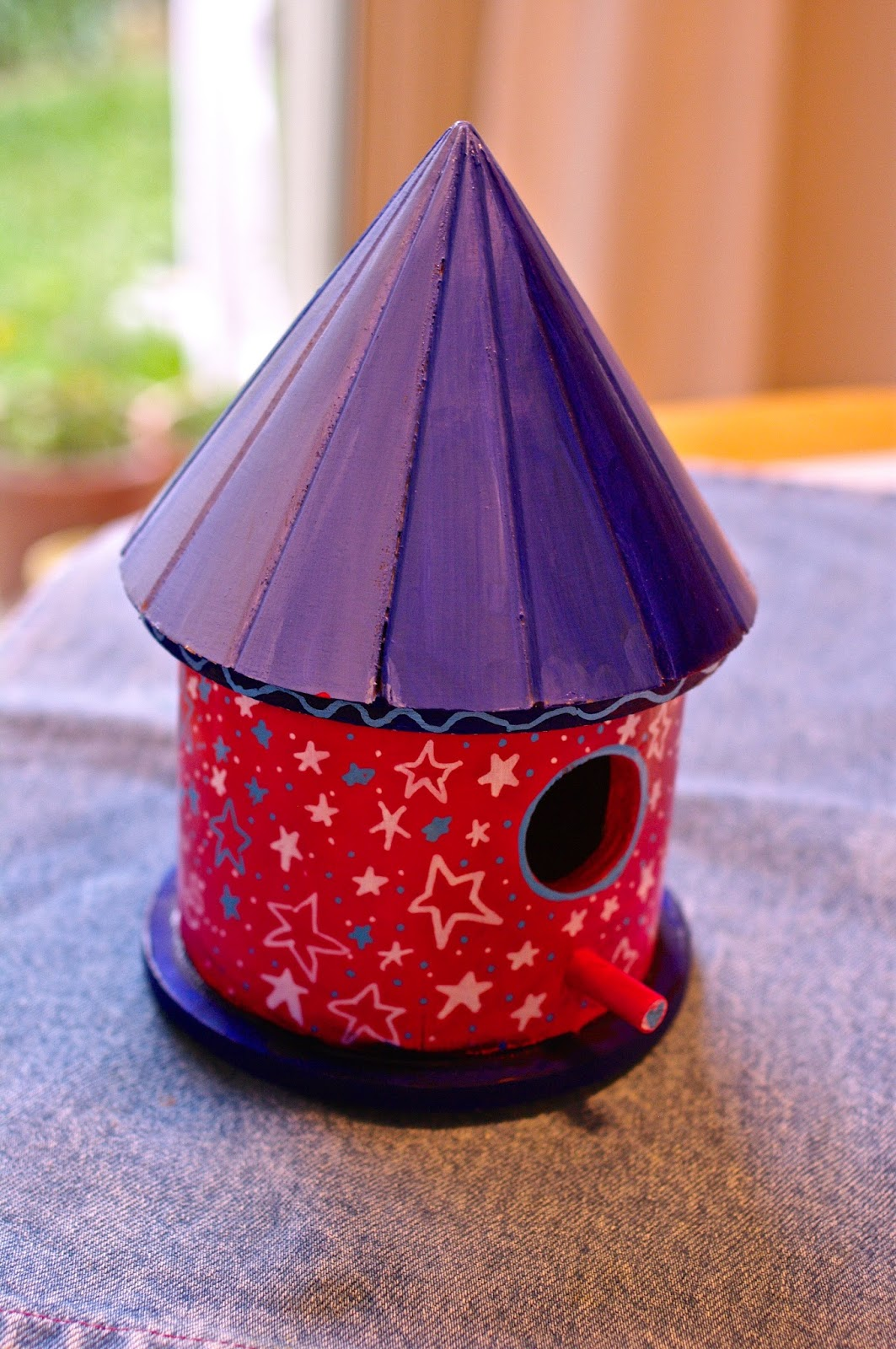 how to make a patriotic bird house
