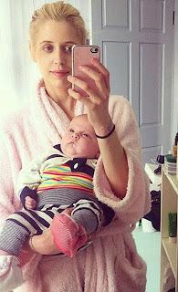 Geldof with her son