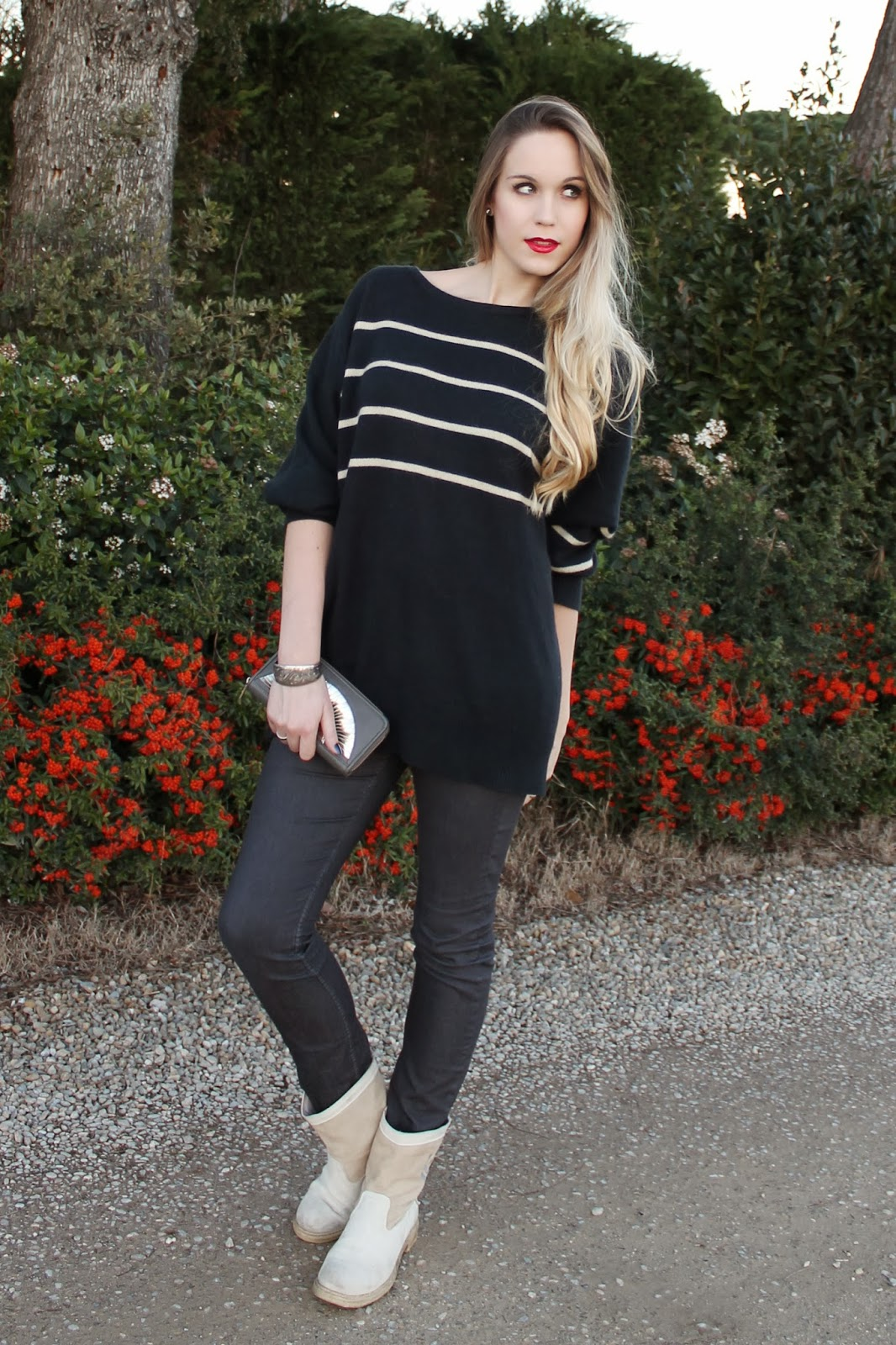 oversized sweater skinny jeans