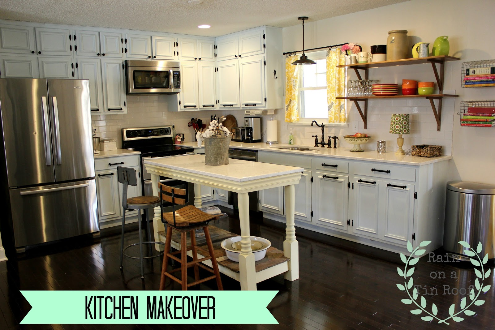 Kitchen Makeover {rainonatinroof.com} #kitchen #makeover #re Model #