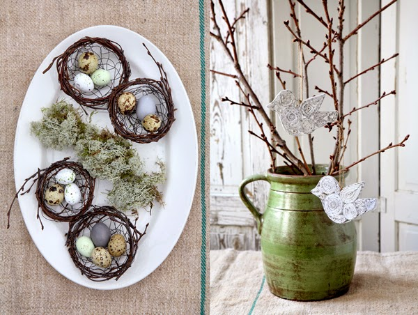 Sweet Easter Cakes And Rustic Decorations