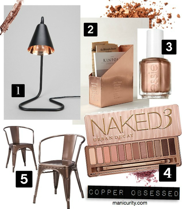 Friday Five: Copper Capades - 5 Copper Things I'm Obsessed With (Beauty + Home Decor) | Manicurity.com