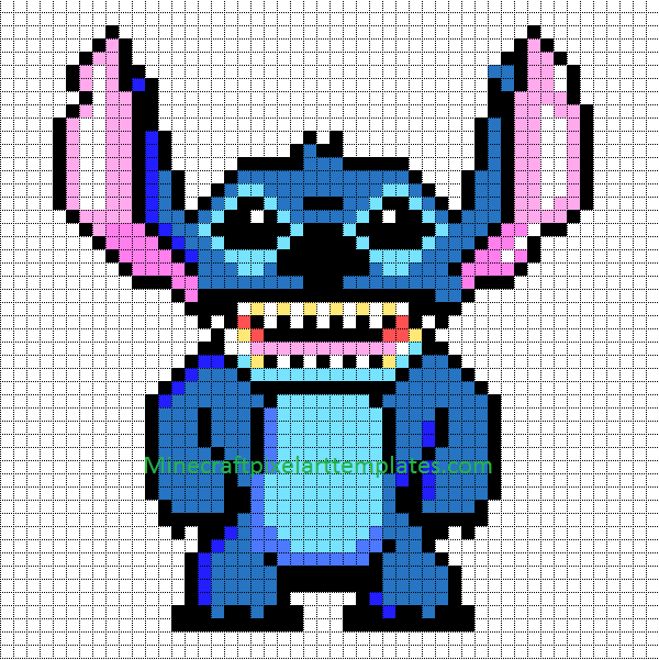 minecraft pixel art templates stitch lilo and stitch