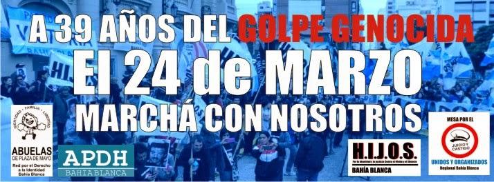 El 24 de Marzo, Marchá con los Organismos de DDHH.