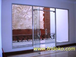 Partisi kantor, partisi aluminium, kaca, jendela , pintu, kusen, kaca ...