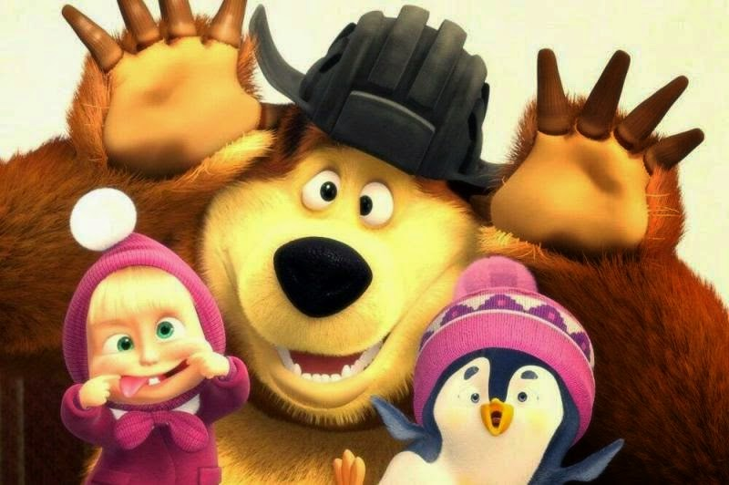 Masha and The Bear 2015 Funny Pictures  Gambar Lucu Terbaru Cartoon